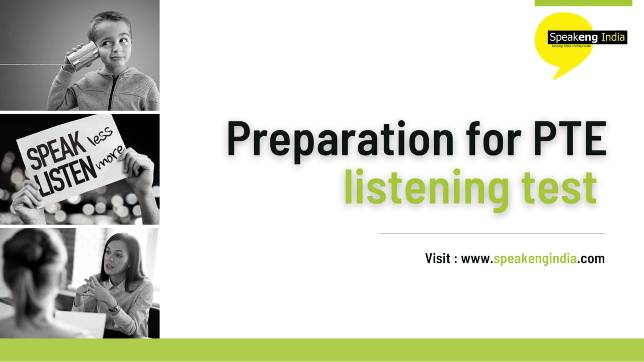 You are currently viewing Preparations for PTE listening test