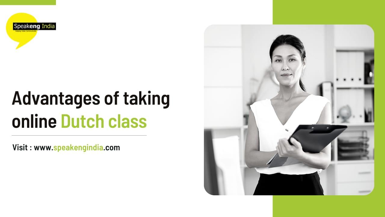 Advantages of taking online Dutch classes
